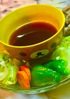 No2293蒸し野菜と豚肉ニンニクポン酢