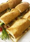 きのこたっぷりベトナム風サンドイッチ