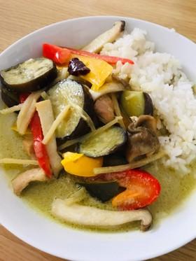 簡単☆野菜たっぷりグリーンカレー