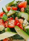 簡単!きゅうりとトマトの低糖質サラダ!