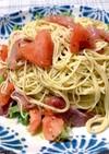 超簡単トマトと生ハムのジェノベーゼパスタ