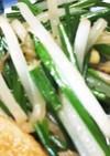 ニラの花芽とモヤシ炒め