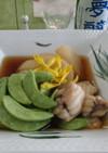 つる豆とアンコウ、大根の煮物
