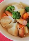 ゴロゴロ野菜としみうま水餃子のポトフ