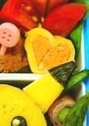 お弁当に可愛いダブル❤ハート❤の卵焼き❤