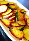 簡単副菜★さつま芋とかぼちゃの塩焼き。