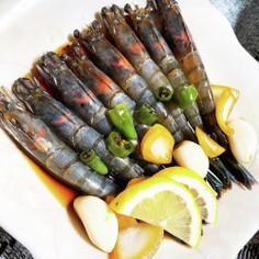韓国料理☆カンジャンセウ(赤エビ)