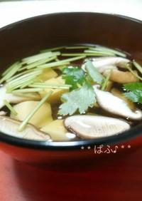 玉子豆腐のお吸い物 ~椎茸の香り~
