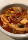 具材たっぷり食べるトマトスープ