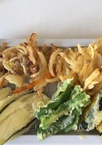 スタミナ回復に役立つ夏野菜の天ぷら