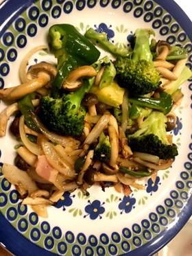 冷蔵庫の残り野菜!ブロッコリーベーコン