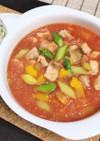 レンジで簡単塩糀トマトの具だくさんスープ