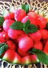 簡単アレンジ!ペルシャ風スイカとミント♪