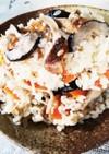 貴女風味で松茸の炊き込みご飯