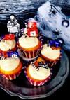 ハロウィン かぼちゃの簡単カップケーキ