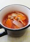 野菜たっぷり簡単ミネストローネ風スープ。