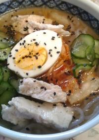 シラタキか素麺で韓国冷麺
