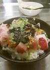 [簡単]我が家の海鮮丼(丼のタレ)