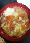 トマトとふわふわ卵のお味噌汁☆