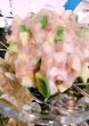 簡単おつまみ*アボガド長芋の一口ネギトロ