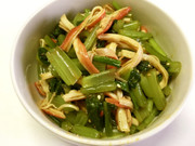 小松菜とカニカマの中華和えの写真