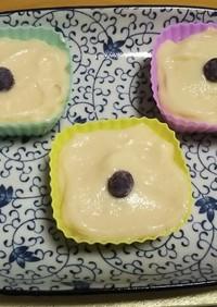 自分めも★おから蒸しパン★カップケーキ風