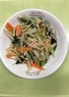 【保育園給食】えのきと小松菜の生姜お浸し