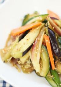 夏野菜の和風マリネサラダ