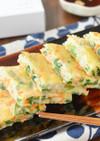 大豆ピューレとしらすのチーズチヂミ