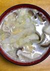 冷しゃぶの茹で汁のスープ