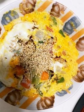 全てレンジ卵とトマトの梅炒め