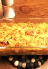パスタとソースのオーブン焼き