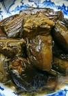 茄子の麺つゆ煮と皮の天ぷら