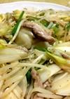 鶏せせり の 無限ねぎ野菜炒め 大皿料理