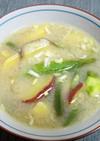 オクラ、ササゲとじゃが芋、薩摩芋のみそ汁