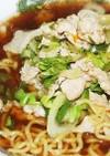 豚々肉々ラーメン(市販の生麺とスープ)
