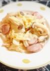 ♡白菜と玉ねぎとウインナーのマヨ炒め♡