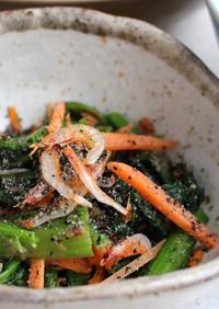 骨粗鬆症予防!小松菜とほうれん草の和え物