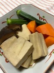 高野豆腐の含め煮の写真
