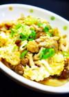 副菜・お弁当に。しめじと油揚げの卵とじ
