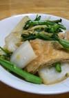 白菜と春菊と油揚げの煮物