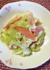 簡単☆キャベツと魚肉ソーセージの塩炒め☆