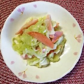 簡単*キャベツと魚肉ソーセージの塩炒め*
