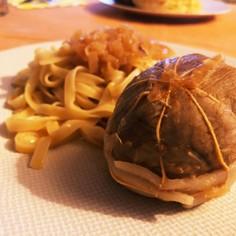 フランス家庭の煮込み料理仔牛のポピエット