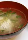 きのこ入り鶏肉団子の中華スープ