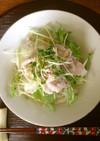 サラダうどん☆ごま風味