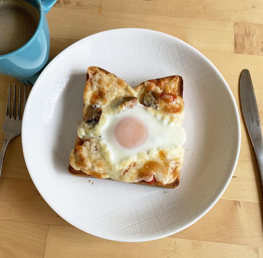 トースターで簡単★ガレット風ピザトースト