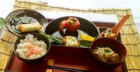 『納豆とレンコンのネバネバお焼き』定食①