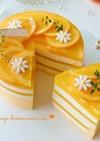 しましまオレンジ♡チーズムースケーキ