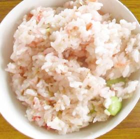 枝豆と桜エビのさっぱり混ぜ梅ご飯